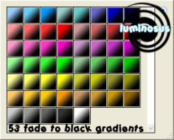 Fade to Black Gradients by luminosus