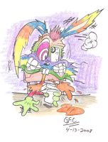 Crazy Rabbit by spongefox