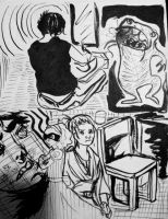 Ink Drawings 3 by Megalosaurus