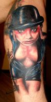 Tattoo sexy girl by Rublev-tattoo