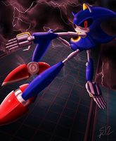 Watch Out for Metal Sonic by ShadowReaper12