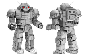 BattleTech/MechWarrior AS-7 D Atlas by lady-die