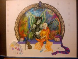 Duo Deae - WIP 7 - August 26, 2012 by drhicks76