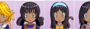 Anime face maker 2: Bee's history by AmyRedd10