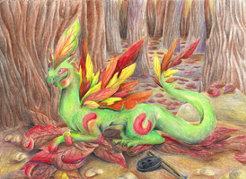 Autumn Dragon by Ilovedragons1