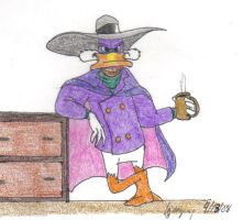 Darkwing with Coffee by DarkwingDrake