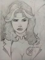 Pencil sketch of Rogue by Sajad126