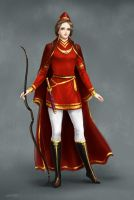 Bagoas  in persian red dress by Develv