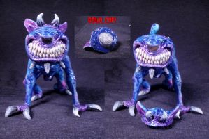 Imp Demon Familiar Converted Glass Pipe 2 by Undead-Art