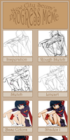 Progress Meme of -Ryuko Matoi- by IrinaFestner94