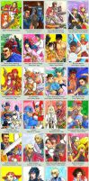 Sketchcard Project X Zone Collection by fedde