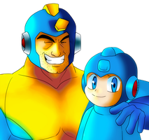 Megaman and Rockman by CheloStracks