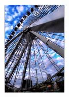 The Ferris Wheel II by aquapell