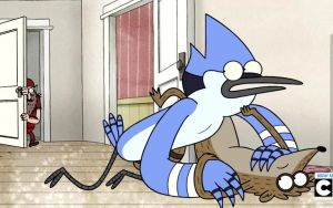 Mordecai and Rigby The Best VHS in the World by HeladoDeChicle