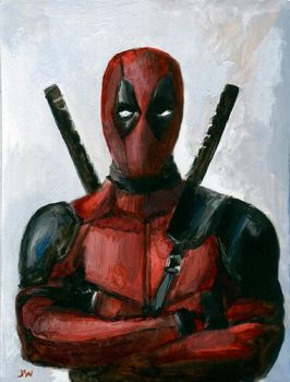 Deadpool Sketch Card by Stungeon