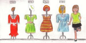 Looking Back at Women's Fashion - Dresses by silente64