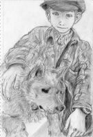 Boy and Dog by Pen-scribble