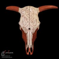 Bovine Front View by SkullGrrl