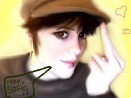 Hey, SOPA... - A self-portait by LydiaKitten