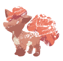 Vulpix Paint Splatter Graphics by HollysHobbies