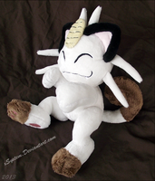 Posed Meowth Plush by xBrittneyJane