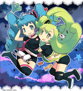 Miku and Macne by Charln