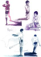 Rivaille sketch dump by Capell42