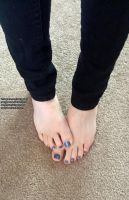 Lavender Toes by NattyToes