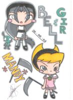 Bell,Gir and Mandy Chibi by pokediged