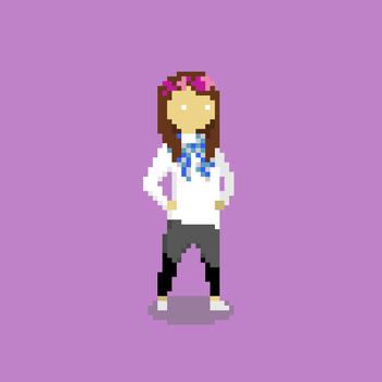 Pixel Girl by lonezi