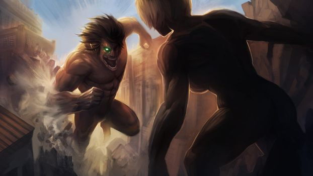 Attack on Titan - Eren vs Annie by MoshYong