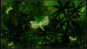 Glowmoth Wallpaper by Siobhan68