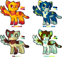 [OPEN] [PAYPAL] - Winged Kitty Adopts by Featheries