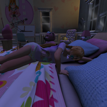 taking a nap on the bed by lisakim777