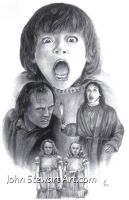 The shining charcoal portrait for sale by johnstewartart