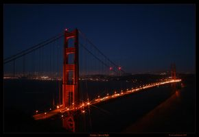 Golden Gate at Night by 1bgpayne