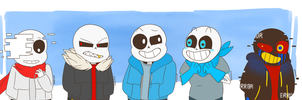 ALL THE SANS by g-doodlez