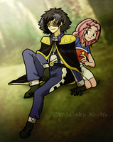 Collab: Digimon Kaiser and Mimi by The-PirateQueen