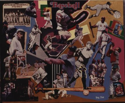 Baseball Collage abstract by bing2014