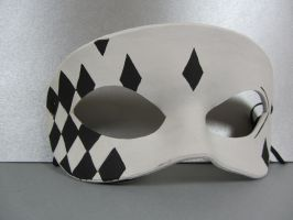 White and Black Harlequin mask by maskedzone