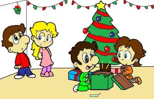 Merry X-mas for the Mario's by crystalm1234