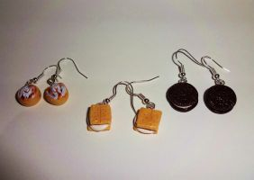 Assorted Treats Earrings by ByToothAndClaw