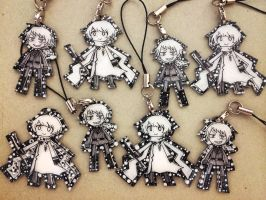 Shrink Plastic Russia and Prussia Charms by zisuberi