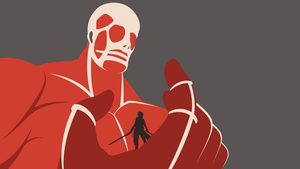 Attack on Titan - Colossal Titan wallpaper by Carionto