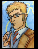 Sketch Card: Doctor Who Cosplay by KnoppGraphics