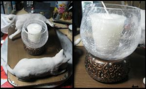 :.Candle Holder - WIP.: by XPantherArtX