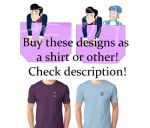 Robbie Rotten and Sportacus in the pocket shirt+ by iedasb