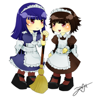 RO Fanart - Maid Sisters by G-Trace