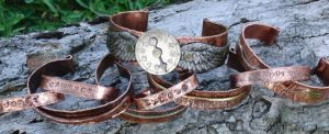 Copper bracelets and cuffs by ReneeRutherford