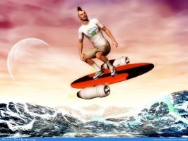 Russ Surfspray Sims2 surfer by rlcwallpapers